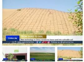 تبدیل شنزار به مزرعه در چین